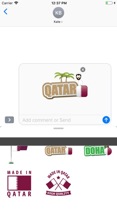 Screenshot for Qatar Stickers -ملصقات قطر in United States App Store