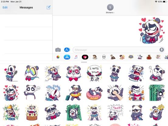 Cute Panda Pun Funny Stickers screenshot 5