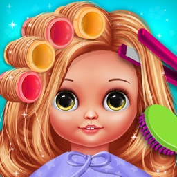 Cute Girls Doll Hair Salon