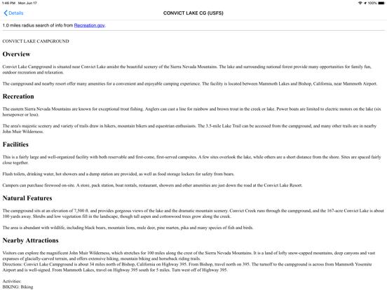 Screenshot #6 pour USFS & BLM Campgrounds