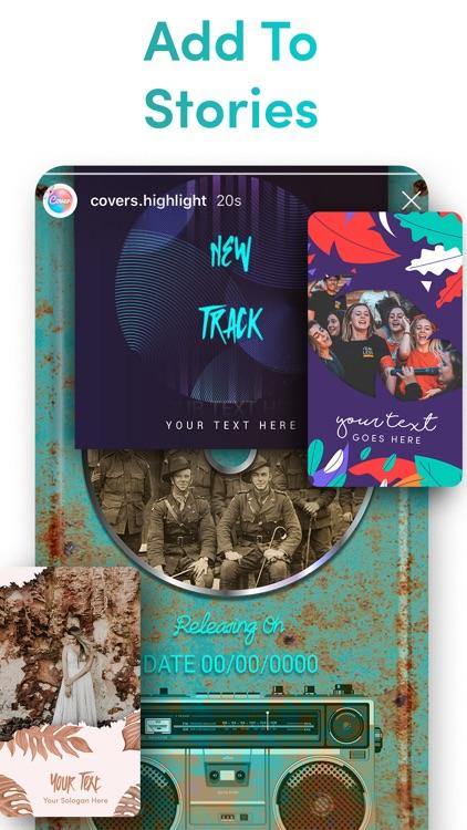 Cover Highlights + logo maker screenshot-8
