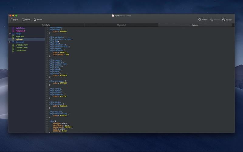 Скриншот №5 к Hep - Html Editor Pro для Mac