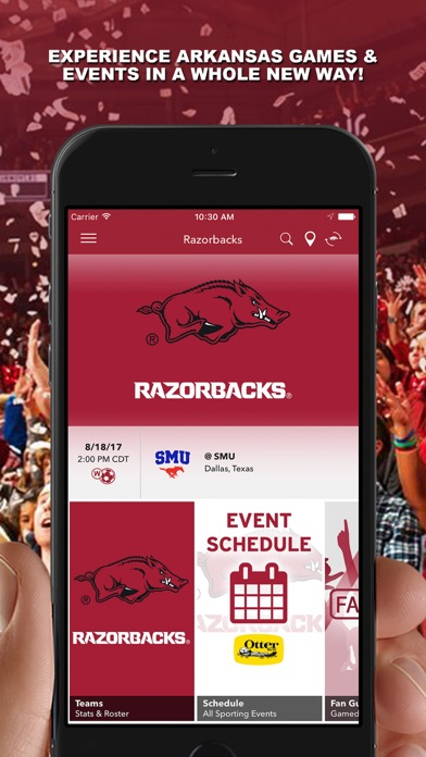 messages.download Arkansas Razorbacks Gameday software