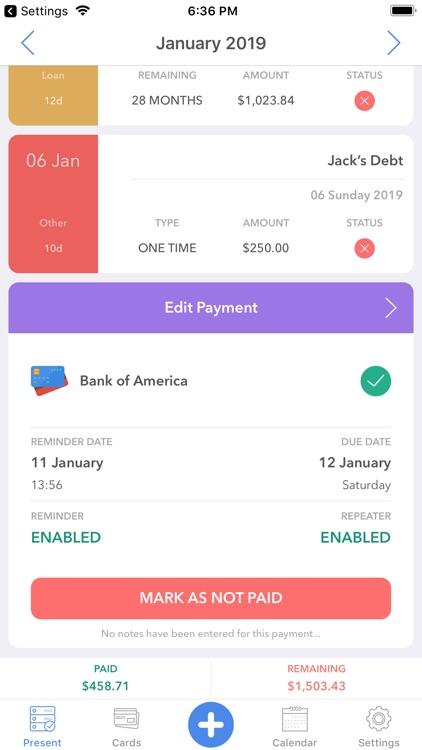 Memento-smart payment reminder