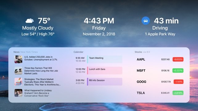 DayView - Personal Dashboard Screenshot