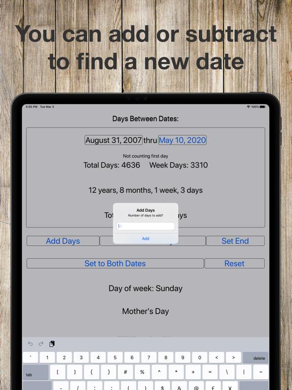 Between Dates Screenshots