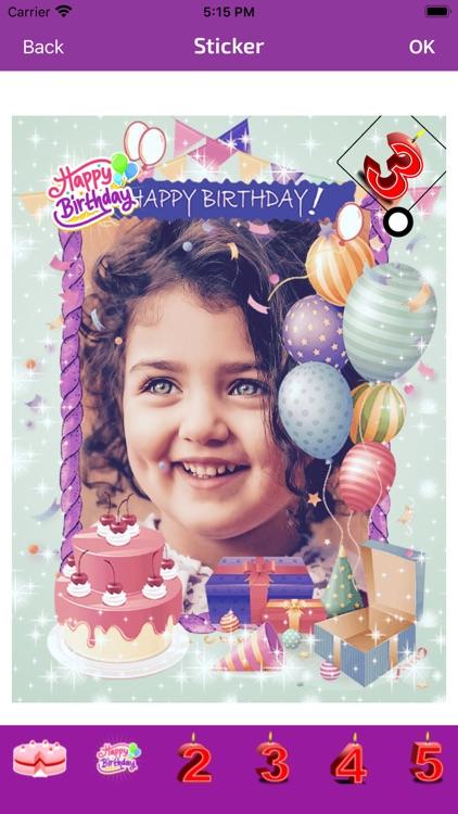 Birthday Photo Frames - Editor screenshot-3