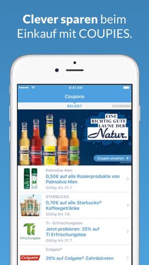 COUPIES Coupons im Supermarkt Screenshot