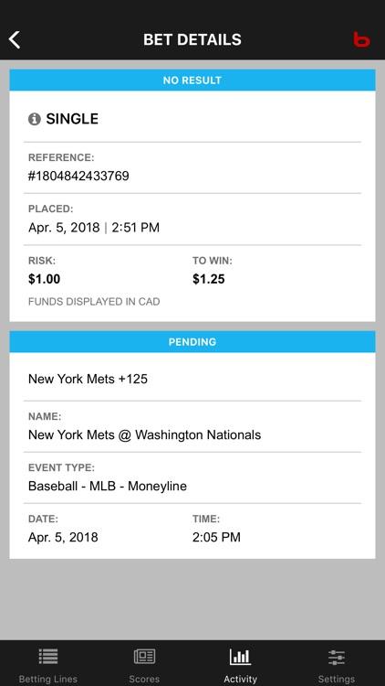 Bodog Bet Tracker screenshot-4