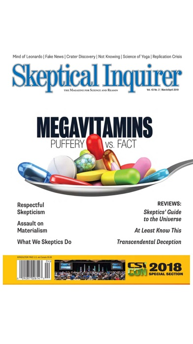 Skeptical Inquirer - The Magazine for Science and Reason screenshot