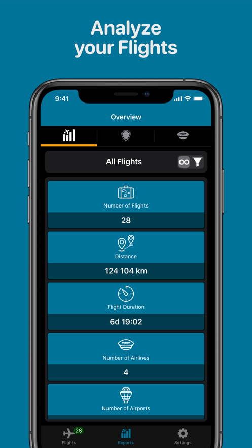 Air Travel Log App 截图