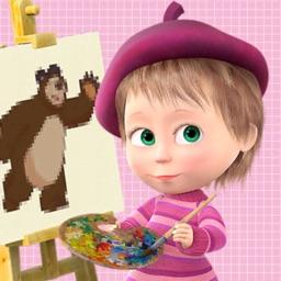Masha and Bear: coloring book