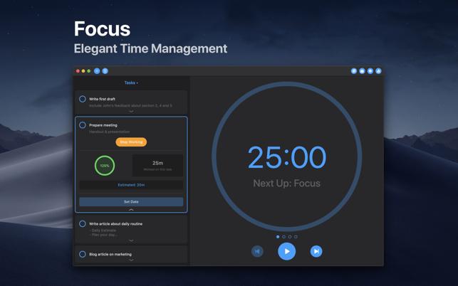 Focus - Time Management Screenshot