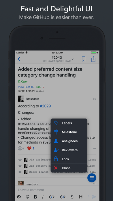 Скриншот №8 к GitHawk for GitHub