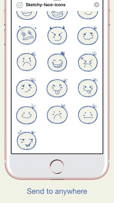 Sketch Smiley Emoji Stickers screenshot 2