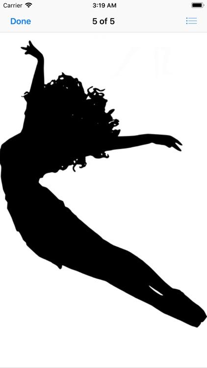 Dance Silhouette Stickers screenshot-8