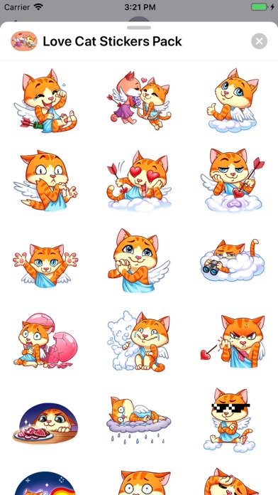 Screenshot for Love Cat Stickers Pack in United States App Store