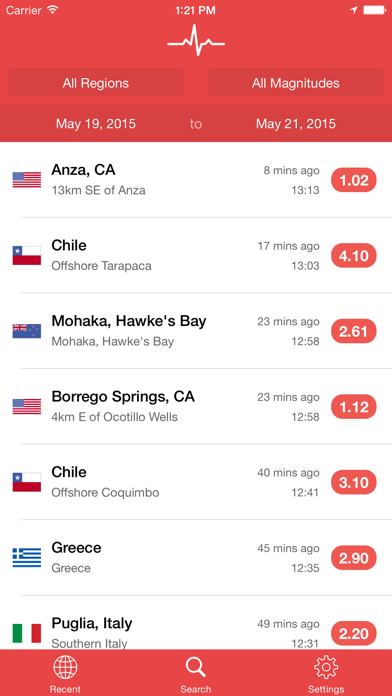 My Earthquake Alerts Pro Screenshot
