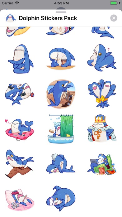 Dolphin Stickers Pack app image