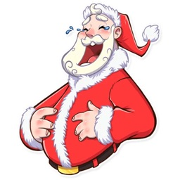 Christmas Santa Funny Stickers