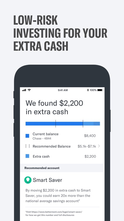 Betterment: Invest and Save