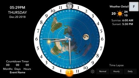 Screenshot #7 for Flat Earth Sun & Moon Clock