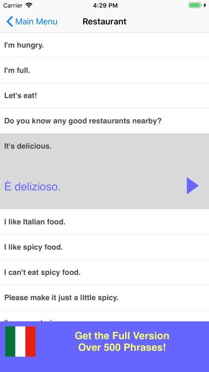 Speak Italian Phrasebook Lite screenshot-3