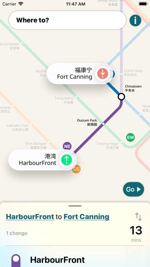 Singapore Metro Mrt Map On The App Store