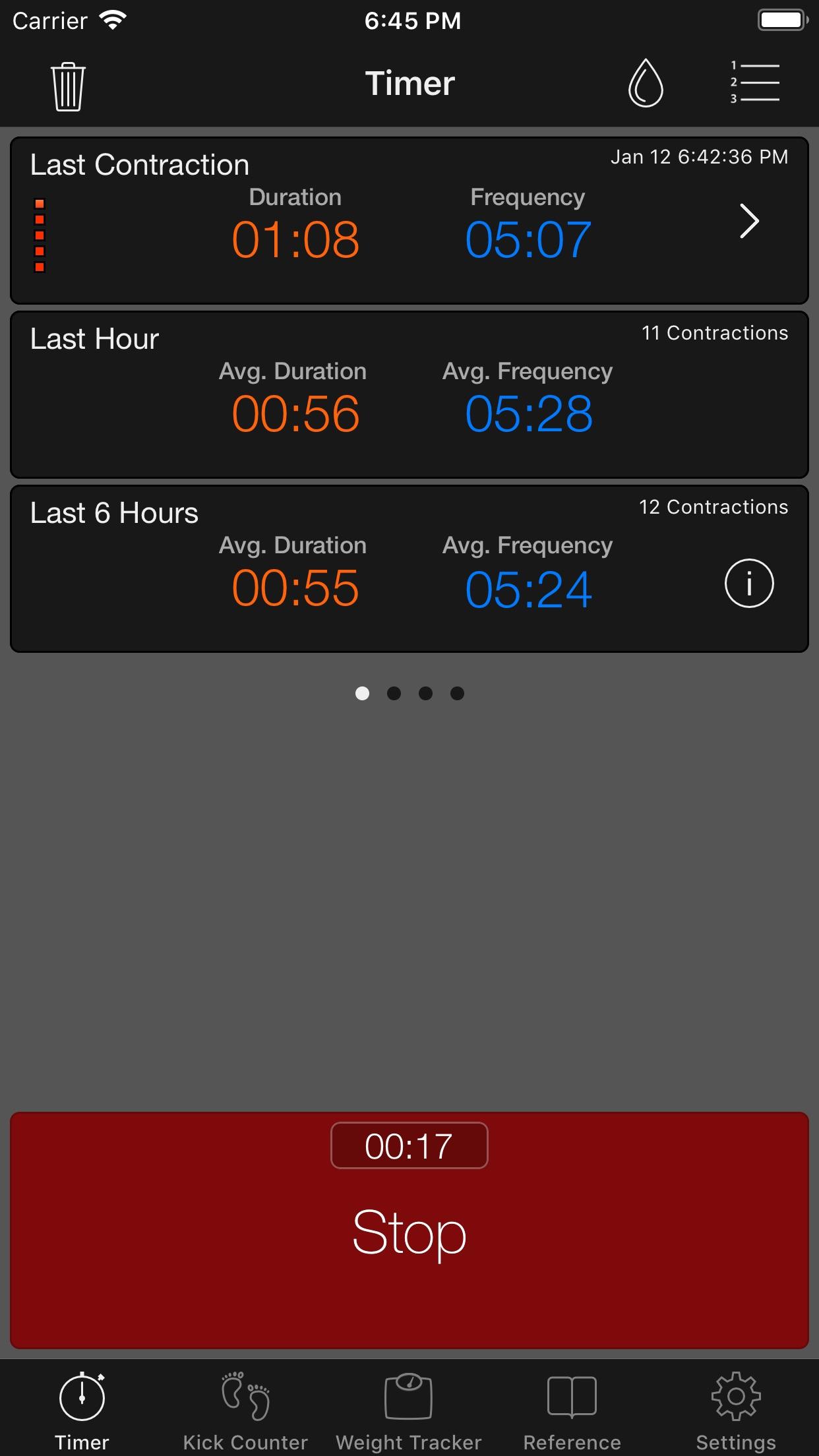 Full Term - Contraction Timer Screenshot