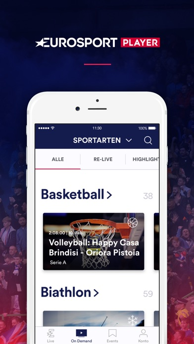 Screenshot for Eurosport Player in Germany App Store