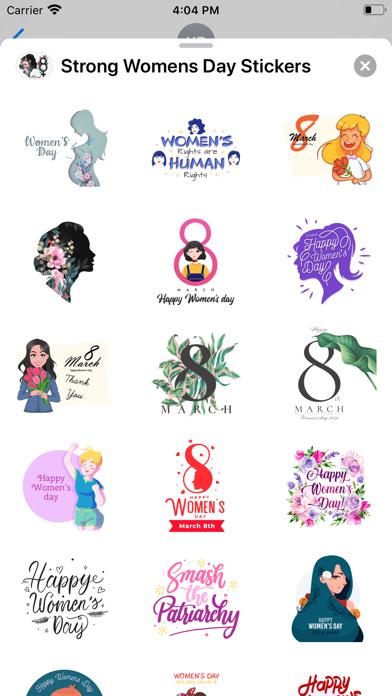Strong Women's Day Stickers screenshot 2