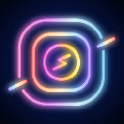 Ícone do app NEON GIF+TEXT Video Effects