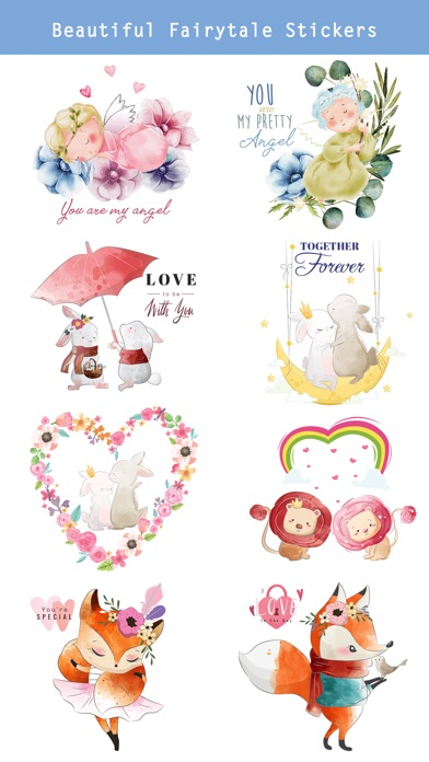 Fairytale Love Stickers screenshot 2