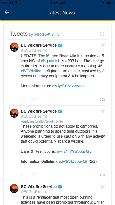 BC Wildfire Service screenshot 6