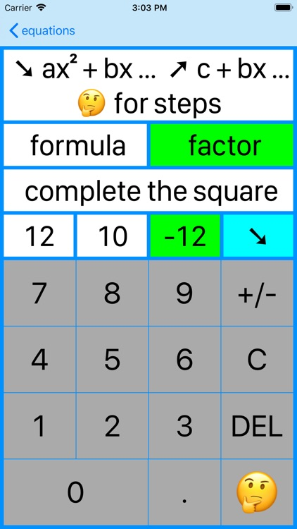 Quadratic Factoring screenshot-7