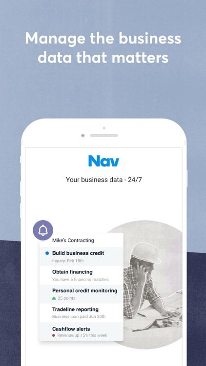 Nav: Business Credit & Finance screenshot-0
