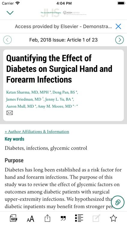 Journal of Hand Surgery screenshot-4