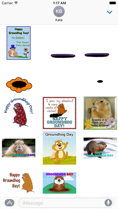 Animated Groundhog Day Sticker screenshot 2