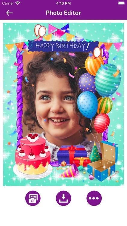 Birthday Photo Frames - Editor screenshot-6