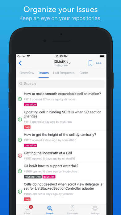 Скриншот №6 к GitHawk for GitHub