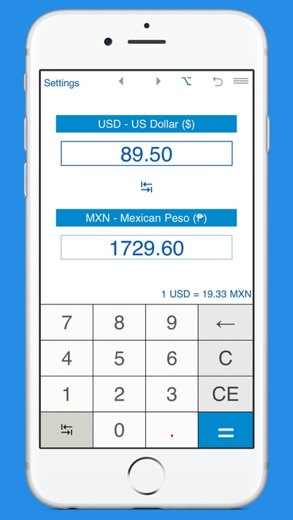 USD and MXN converter