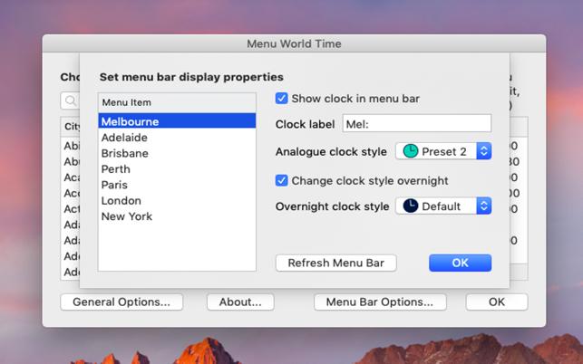 Menu World Time on the Mac App Store