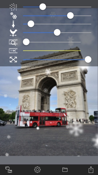 Snow Effect Video app image