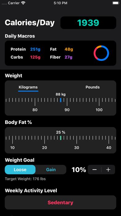 IIFYM Macro/Calorie Calculatorのおすすめ画像4