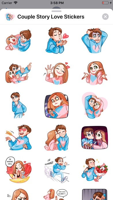Couple Story Love Stickers
