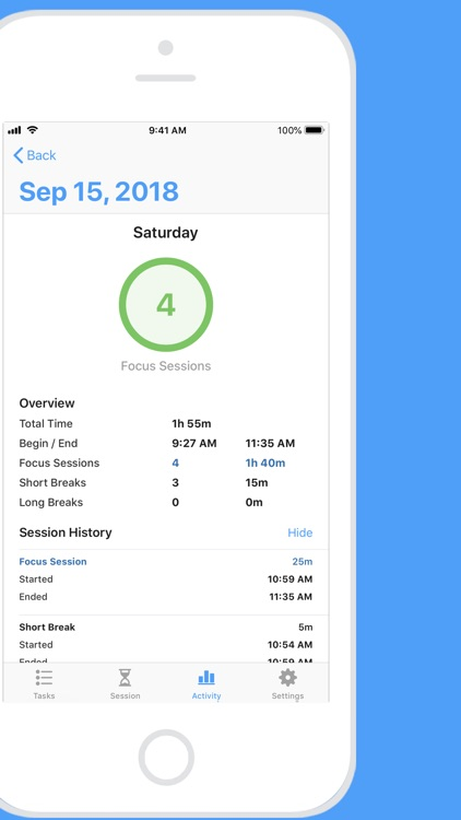Focus - Time Manager screenshot-4