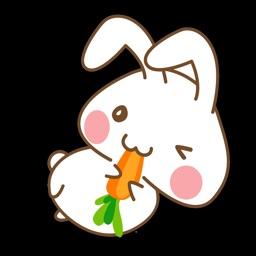Onigiri Bunny Sticker iMessage