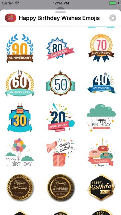 Screenshot 7 For Happy Birthday Wishes Emojis