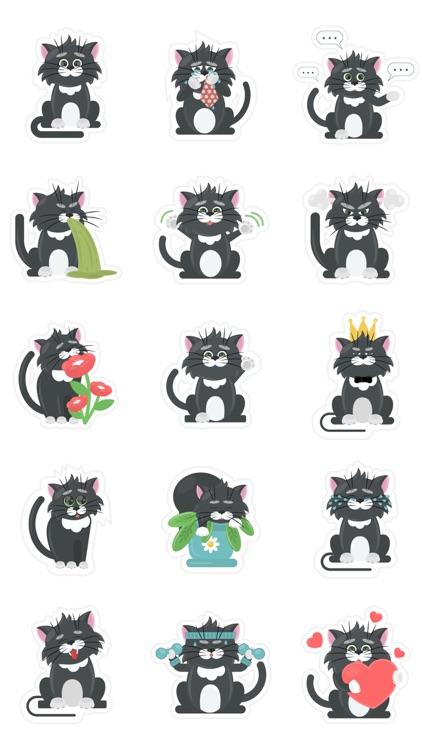 Black Cat Crossed The Road Emo