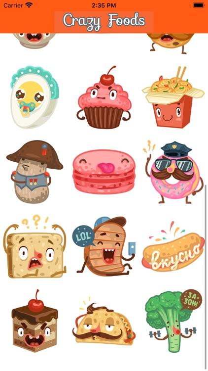 Stickers: Crazy Foods!